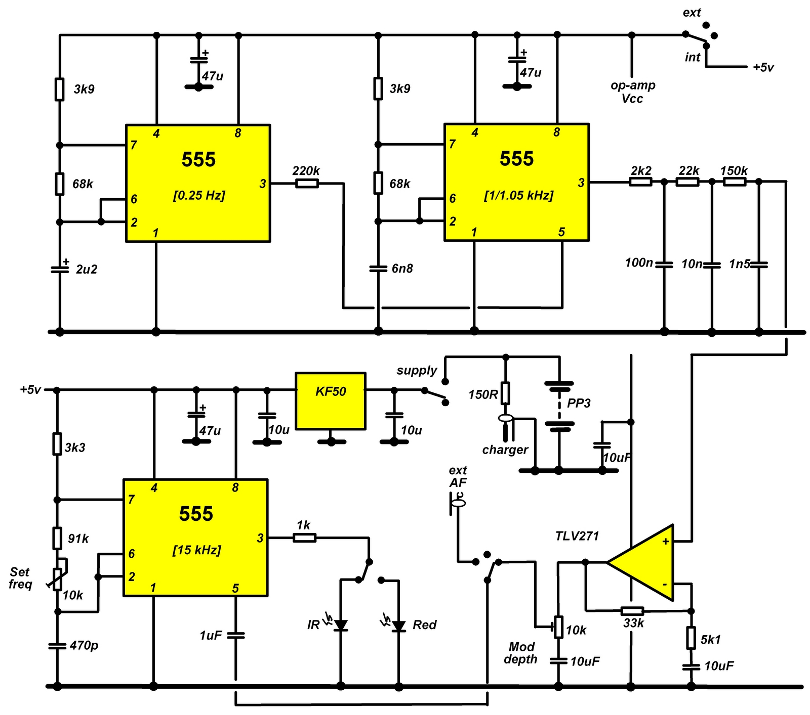 FM beacon circuit